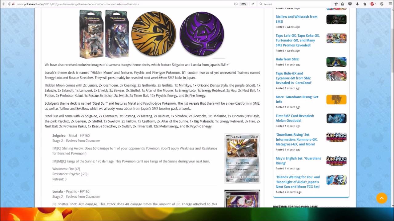 Guardians Rising Theme Decks Hidden Moon Steel Sun And Their Lists
