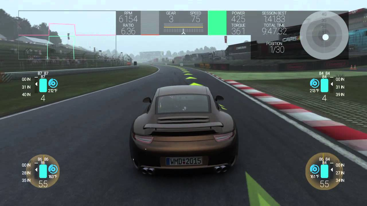 project cars ps4 telemetry hud example youtube. Black Bedroom Furniture Sets. Home Design Ideas