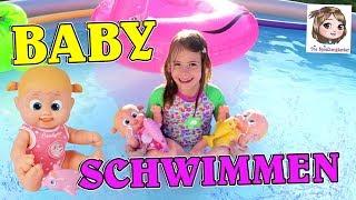 BOUNCIN BABYS - Hannah und ihre Puppen gehen im Pool schwimmen - deutsch