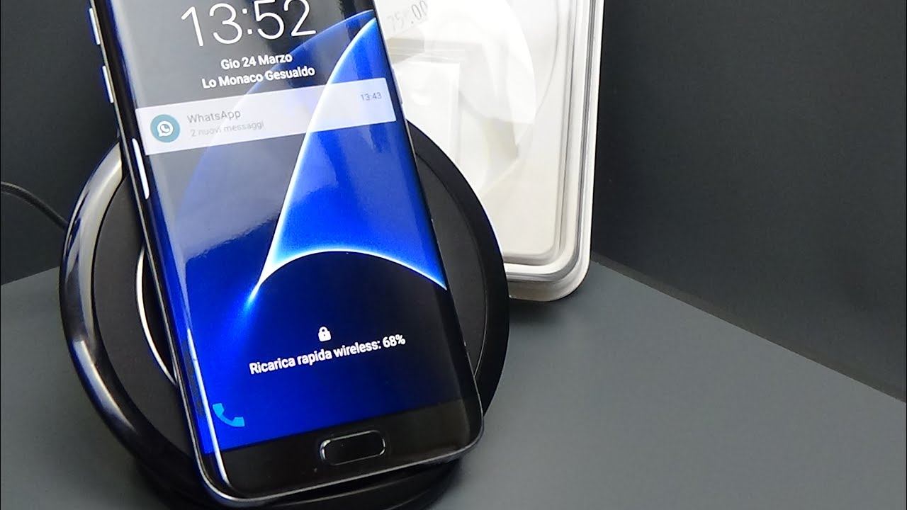 Wireless Fast Charger Samsung S7 Edge Ep Ng930 Youtube