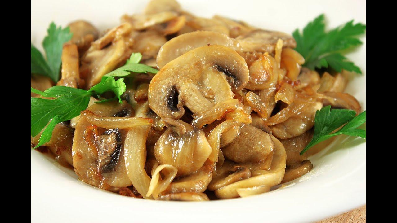 рецепт с фото жареные грибы