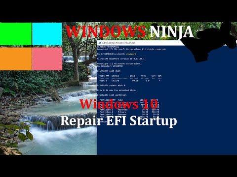 Windows 10 - Repair EFI Partition