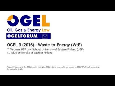 OGEL 3 (2016) - Waste-to-Energy (WtE)