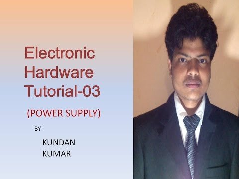 Electronic hardware tutorial 3|| how to make power supply||