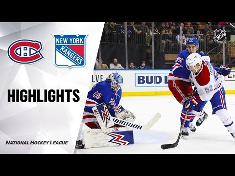 NHL Highlights   Canadiens @ Rangers 12/6/19