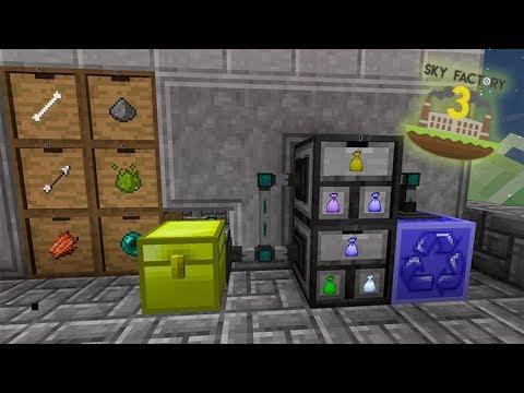 Sistema de Compactação e Abertura de Loot Bags 100% Automático - Minecraft Skyfactory 13