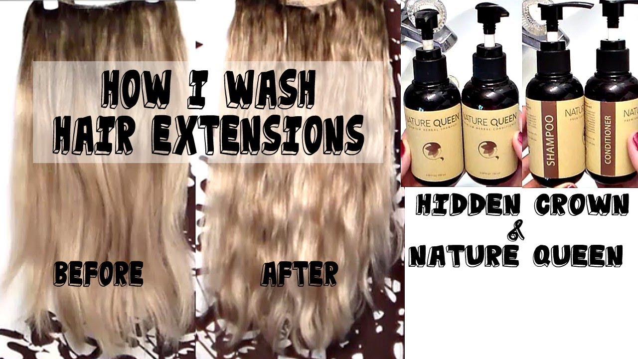 How I Wash Hair Extensions Hidden Crown Hair Nature Queen Youtube