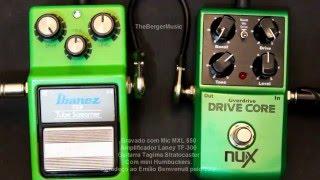Ibanez TS 9 vs Nux Drive Core pedal Comparison