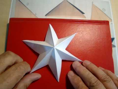 Six Point Paper Star Relief highhopes no. 2 - YouTube
