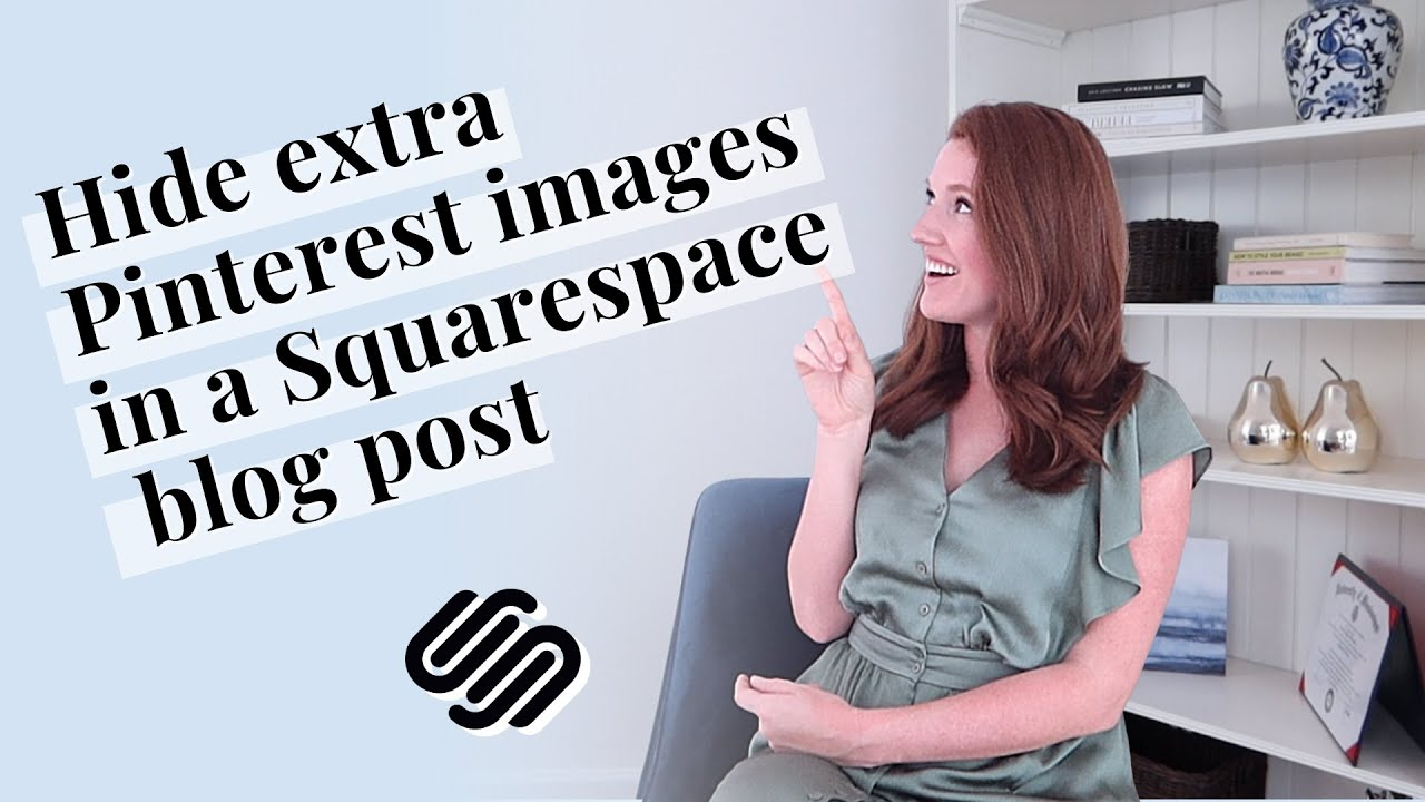 How to hide additional Pinterest images in a Squarespace blog post