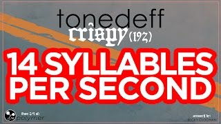 "Tonedeff - ""Crispy (192)"" - 14 SYLLABLES PER SECOND - DEMON [EP] (3/5)"