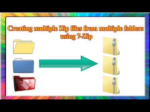 how to create multiple compressed folders using 7zip and bat file in  windows 7
