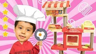 레스토랑 놀러오세요! 치킨 햄버거 쥬스 감자튀김 아이스크림 다 있어요! 우리주방장은 별5개 쉐프에요! 진짜 재밌어요.- 마슈토이 Mashu ToysReview