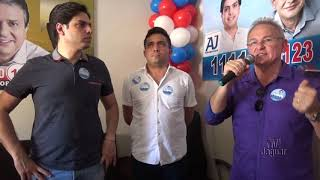Russas: Didi do Agaci, inauguração comitê central, deputado federal AJ Albuquerque.