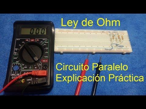 La ley de ohm y su explicación sencilla para un circuito paralelo