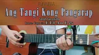 Ang Tangi Kong Pangarap   Sarah Geronimo   Guitar Chords