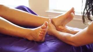 Blissful Foot Massage; Swedish Massage Therapy Techniques For Feet; Relaxing Music & ASMR Voice