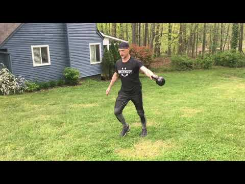 Lunge with Kettlebell Side Swing