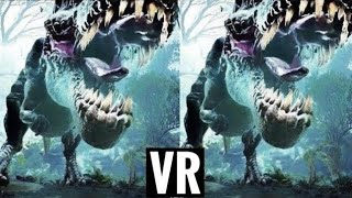 VR Dinosaur 3D Horror VR Video 3D SBS [Google Cardboard VR Box 360 VR] Virtual Reality Video 3D VR