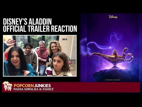 Disney's Aladdin Official Trailer #3 - Nadia Sawalha & The Popcorn Junkies Reaction