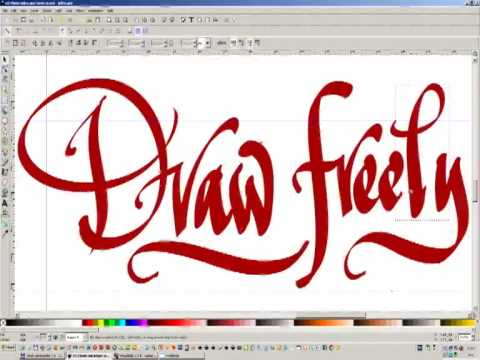 Inkscape Draw Freely Digital Calligraphy Youtube