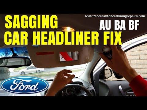 Ford AU BA BF Falcon Sagging Headliner Repair | DIY HOW TO FIX CAR HEADLINER
