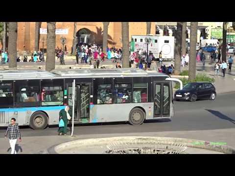 Buses in Rabat, Morocco الحافلات في الرباط