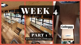 Week 4 Recap - Part 1 //  Sawyer Life 9 Week Challenge // Bus to a Tiny Home Conversion