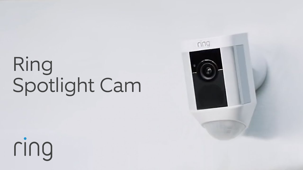 Camera Exterieur Ring Ring Spotlight Cam Introduction Smart Home Security With Motion Light