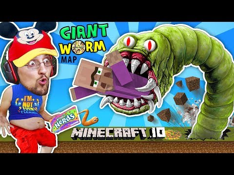 Thumbnail: FGTEEV FAT BABY EATS VILLAGERS in MINECRAFT.io Destructive Worms Slither.io Mini-Game Adventure Map