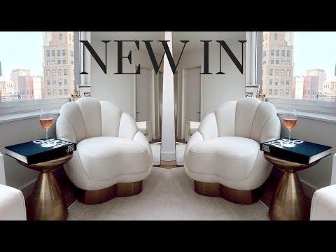 NEW LIVING ROOM FURNITURE + BATHROOM DECOR | Retro Flame NYC Apartment Episode 7