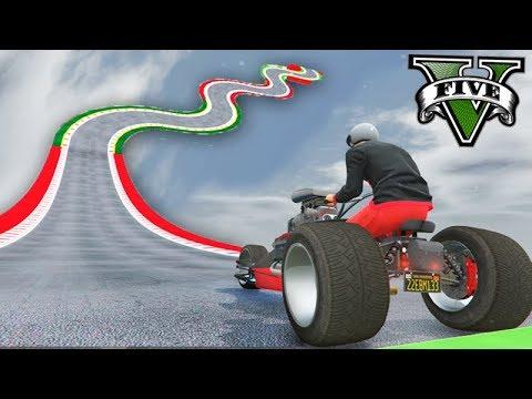 GTA V Online: A INCRÍVEL RAMPA ONDULADA com a MOTO DE 3 RODAS!!!