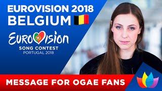 Eurovision-2018   Message from Sennek (Belgium) to OGAE Ukraine