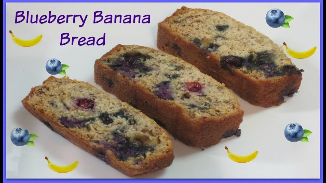 Blueberry banana bread recipe youtube blueberry banana bread recipe forumfinder Choice Image