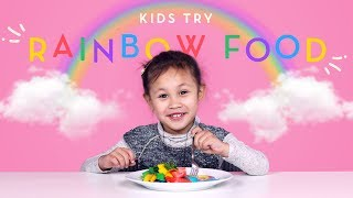 Kids Try Rainbow Food! | Kids Try | HiHo Kids