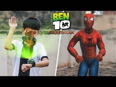Ben 10 Transforming Into Spiderman | A Short Film VFX Test