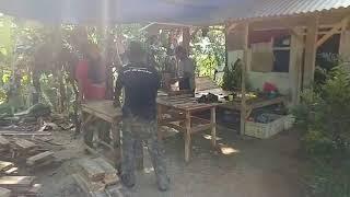 Indonesia Sawmill Expensive Teak Tree Wood Cutting flooring size using homemade circular saw