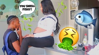 SMELLING LIKE FISH TO SEE MY BOYFRIEND'S REACTION!