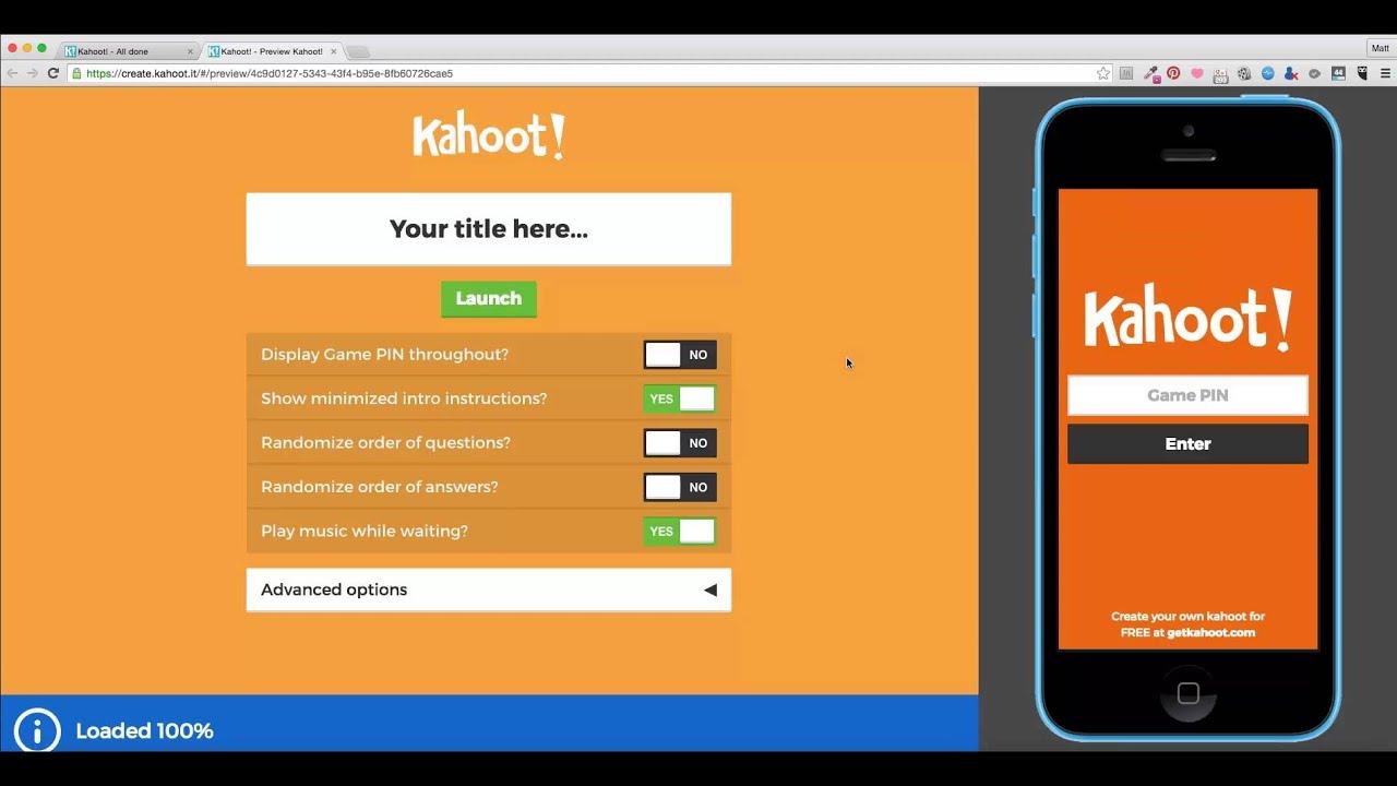 How To Make A KAHOOT - YouTube - photo#6