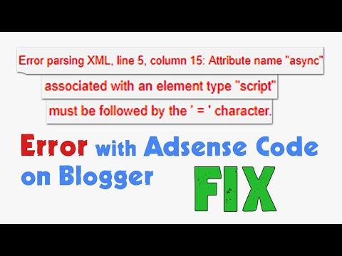 Error While Parsing Xml