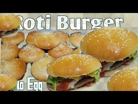 Resep Roti Burger Tanpa Telur. Tetap Lembut.