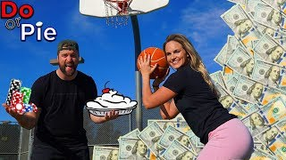 MAKE THE SHOT, WIN THE MONEY (Loser gets a pie to the face)