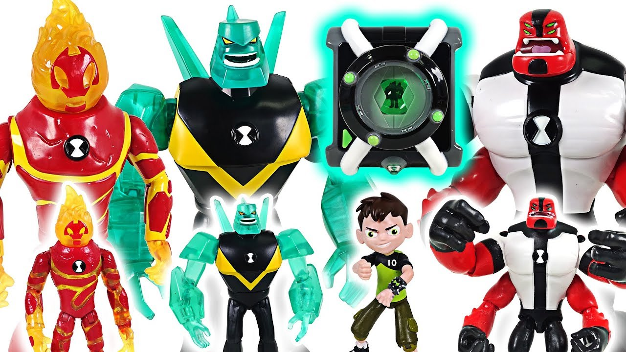 Witch, dinosaurs appeared! Ben 10 transform into giant aliens and save Super Wings! - DuDuPopTOY