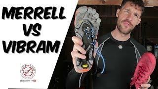 Minimal running shoe review - Vibram Fivefingers vs Merrell Vapor Glove Review Comparison