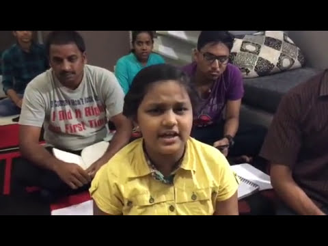 Practice session in class at Alaap Music Academy, Chennai