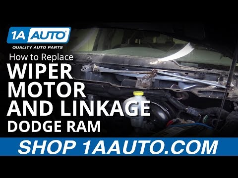 How To Install Replace Windshield Wiper Motor And Linkage