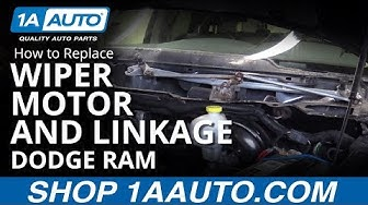 How to Replace Windshield Wiper Motor & Linkage 04-10 Dodge Ram