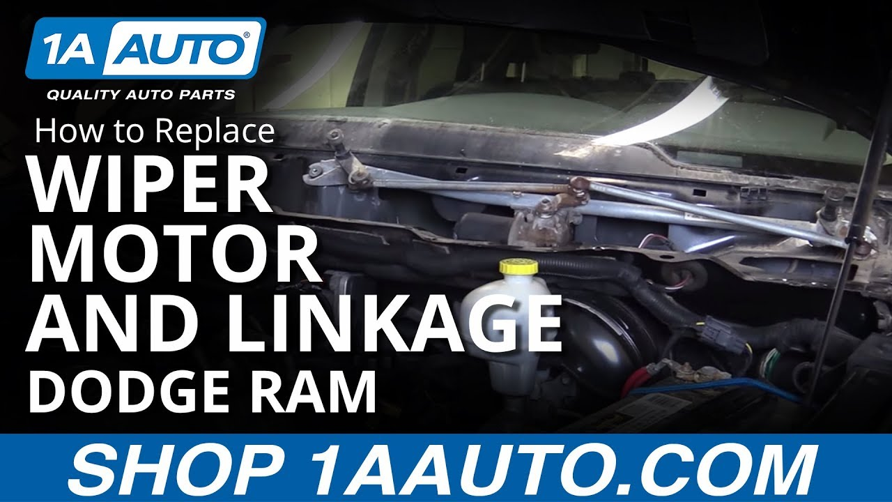 How to install replace windshield wiper motor and linkage 2006 10 how to install replace windshield wiper motor and linkage 2006 10 dodge ram buy parts at 1aauto youtube publicscrutiny Choice Image
