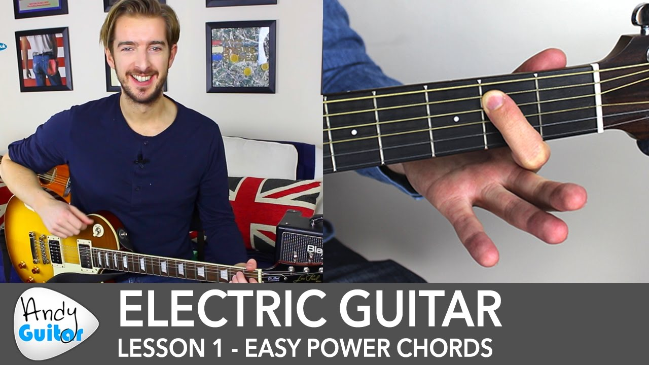 Electric Guitar Lesson 1 - Rock Guitar Lessons for Beginners - YouTube