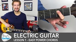 Electric Guitar Lesson 1 - Rock Guitar Lesson for Beginners